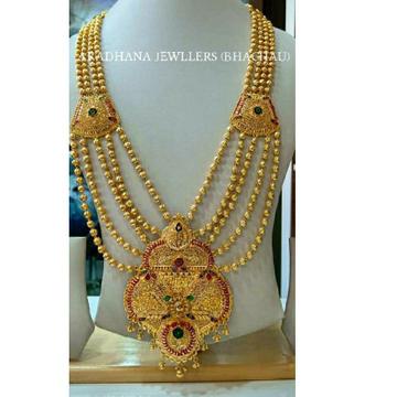 916 Gold Hallmarked Rajwadi Royal Mala