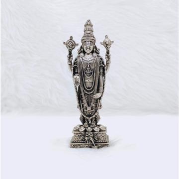 Pure silver tirupati balaji idol in high antique f...