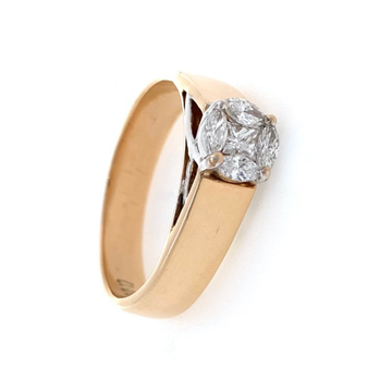 Pressure setting gents ring in 18k rose gold 0gr4