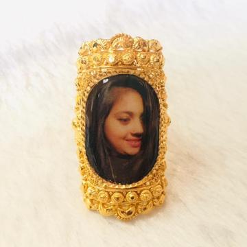 916 Gold Fancy Photo Mina Ring