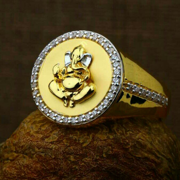 Attractive Ganesh gents ring 22kt