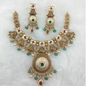 916 GOLD HALF ROUND WEDDING COLLECTION SET by Ranka Jewellers