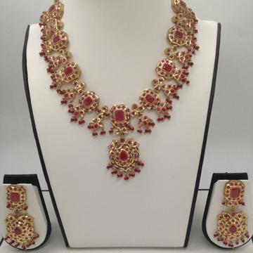 Red CZ Stones TraditionalNecklace Haar Set JNC003...