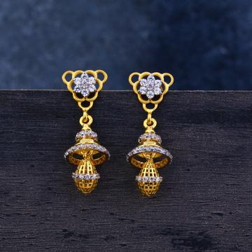 Ladies 916 Gold Jummar Fancy Earrings-LJE108