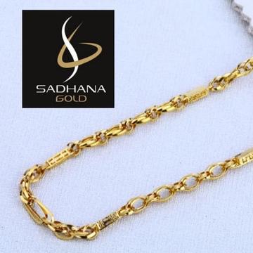 916 Gold Hallmark Chain For Men  by