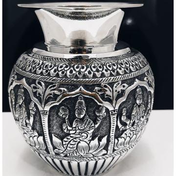 925 pure silver ashtalakshmi kalash in fine emboss...