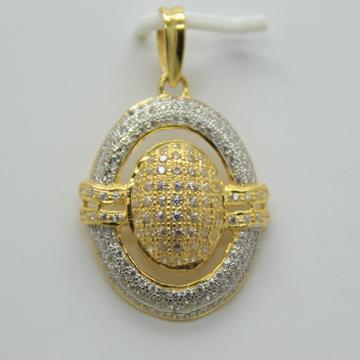 22k cz gold fancy chain pendant