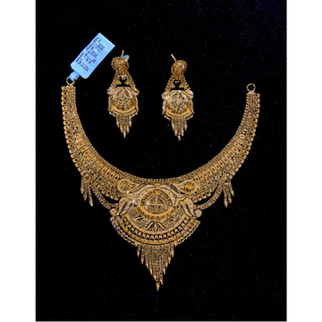 916 Gold Fancy Necklace Set BJ-N13