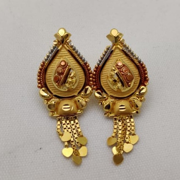 916 Gold Tops Earring LMJ-250 by Lalit Manohar Jewellers