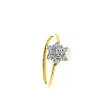 Thirteen Diamond Star Ring in 18k Yellow Gold - VV...