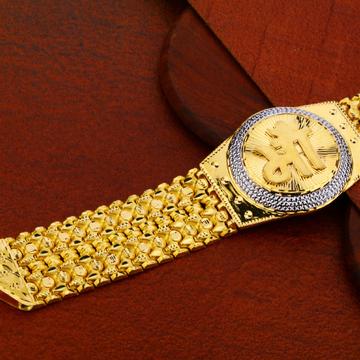 Mens Plain Gold Bracelet-MDCB02