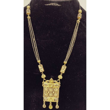 916 Gold Antique Long Mangalsutra by