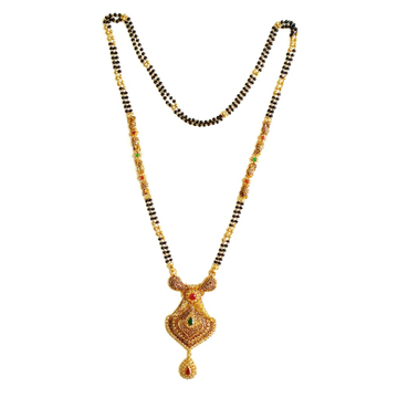 22k Gold Antique Mangalsutra MGA - GM010
