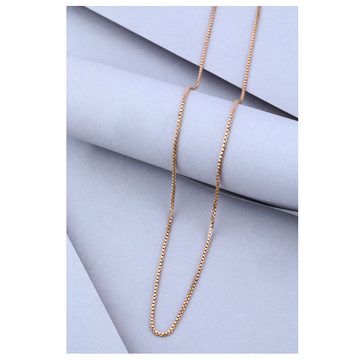 22KT Gold Hollow Box Chain