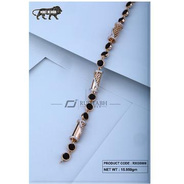 18 carat Rose gold rudraksh gents bracelet pipe rx... by
