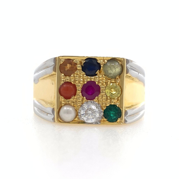 Buy Hallmark Gold Navgrah Ring from RoayleDiamonds... by