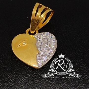 22 carat gold heard daimond pendal RH-PL235