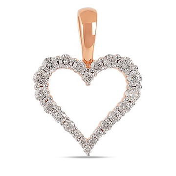 22kt gold and diamond heart pendant jkp001
