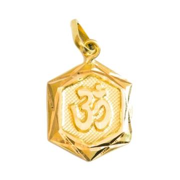 22 k gold om pendent hexa shape