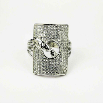 Fancy 925 Silver Gents Ring With Jaguar