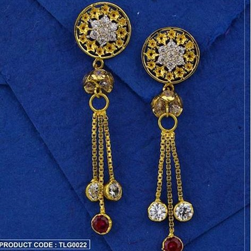 22Kt 916 Gold CZ Diamond Earring RH-ER046