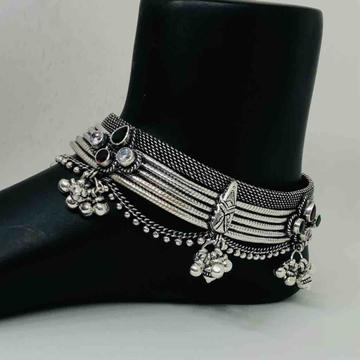 exclusive antique ladies oxidised payal by Prakash Jewellers