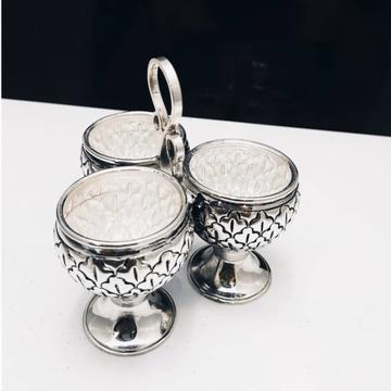 925 pure silver kankavati (stylish kumkum set) in...