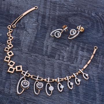 18Ct Rose Gold Hallmark Ladies Necklace Set RN175
