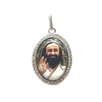 925 sterling silver shree shree ravishankar maharaj pendant mga - pds0055