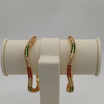 Tri Colour CZ Wave Bangles JBG0002