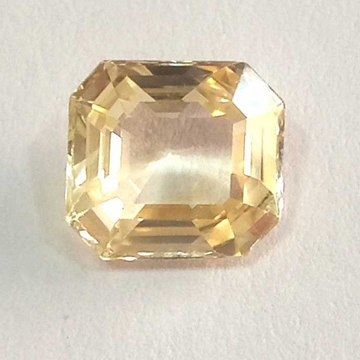 4.44ct rectangle  yellow-sapphire-pukhraj