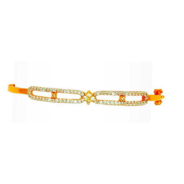 916 Gold Fancy CZ Ladies Bracelet