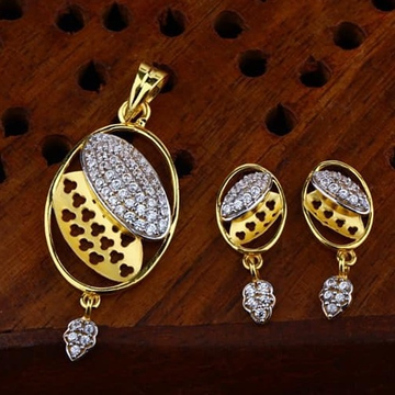 916 gold cz Pendant Set ps-0014
