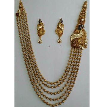 22KT Gold Ladies Indian Wedding Special Necklace Set