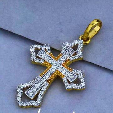 22ct Cz Fancy Cross Pendant