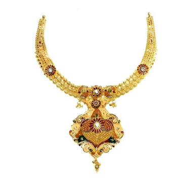 22k gold Necklace Set Calkati Degian by