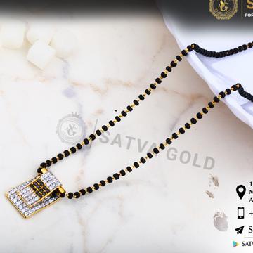 916 gold cz mangalsutra sgc-0041