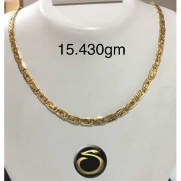 22KT Gold Fancy Hollow Chain SC-BY0763