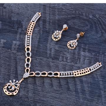 18Ct Rose Gold Delicate Hallmark Ladies Necklace Set RN178