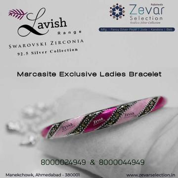 92.5 Silver Hallmark Swarovski Ladies Bracelets