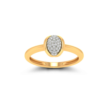 916 Gold CZ Designer Ring For Women JK-LR001