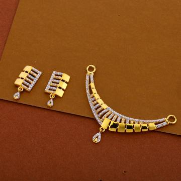 22kt cz designer hallmark pendant set mp284