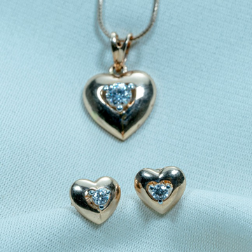 Heart Design Gold Necklace Set PS5-241 by