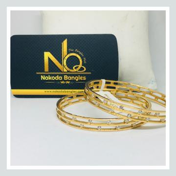 916 Gold CNC Bangles NB - 721