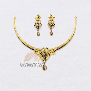 916-Fancy-Lightweight-Gold-Necklace-Set by
