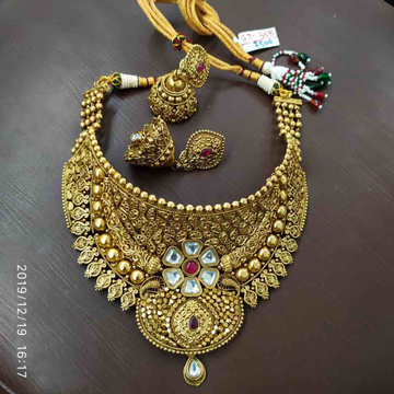 Gold Plated Necklace Set for women is made of alloy