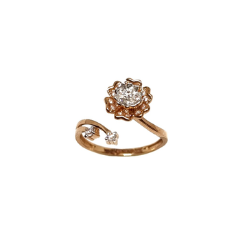 18K Rose Gold Flower Shaped Modern Ring - LRG1141