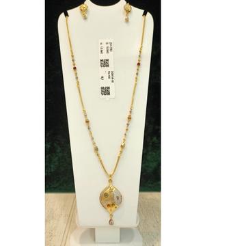 22KT Gold Hallmak Antique Pendant set