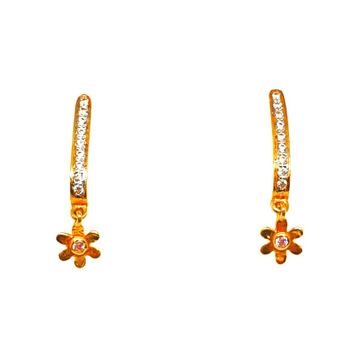 22K Gold Designer J Shaped Earrings MGA - BTG0261