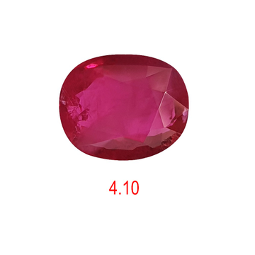 4.10ct oval shape pink ruby